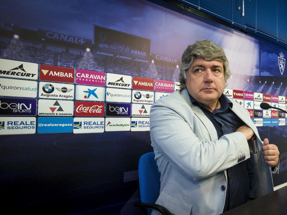 Narciso Juliá, en la sala de prensa de la Ciudad Deportiva.