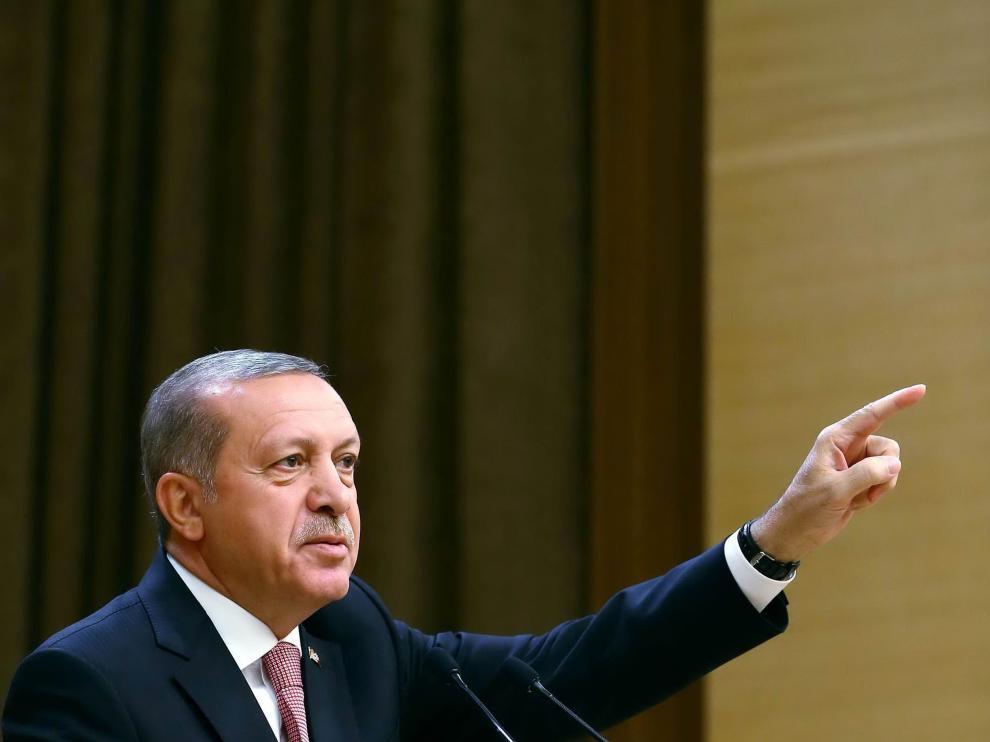 Erdogan, durante un discurso en Ankara.