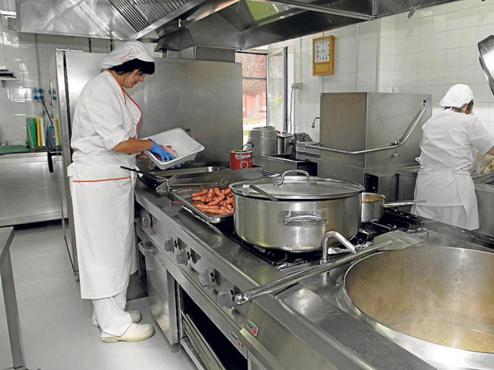 Comedor de la Escuela Hogar Madre de las Mercedes, que da servicio al CEIP Fuente del Rey