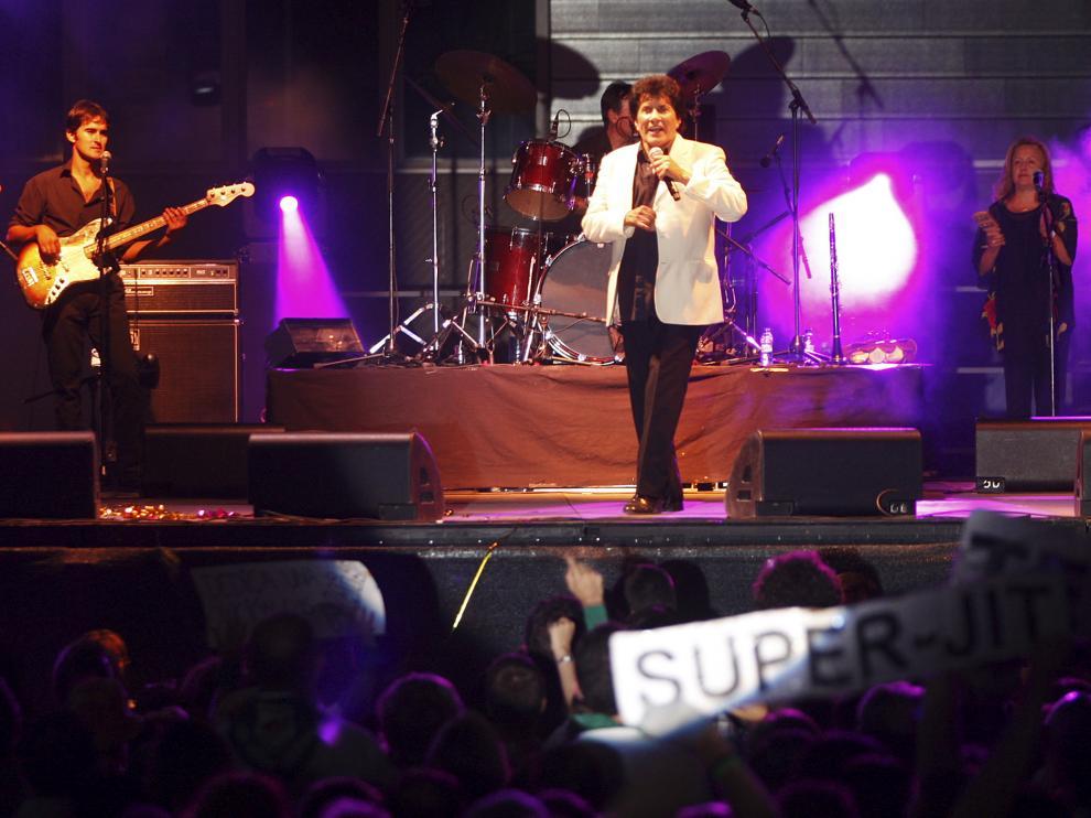 Georgie Dann, en su concierto de  Huesca
