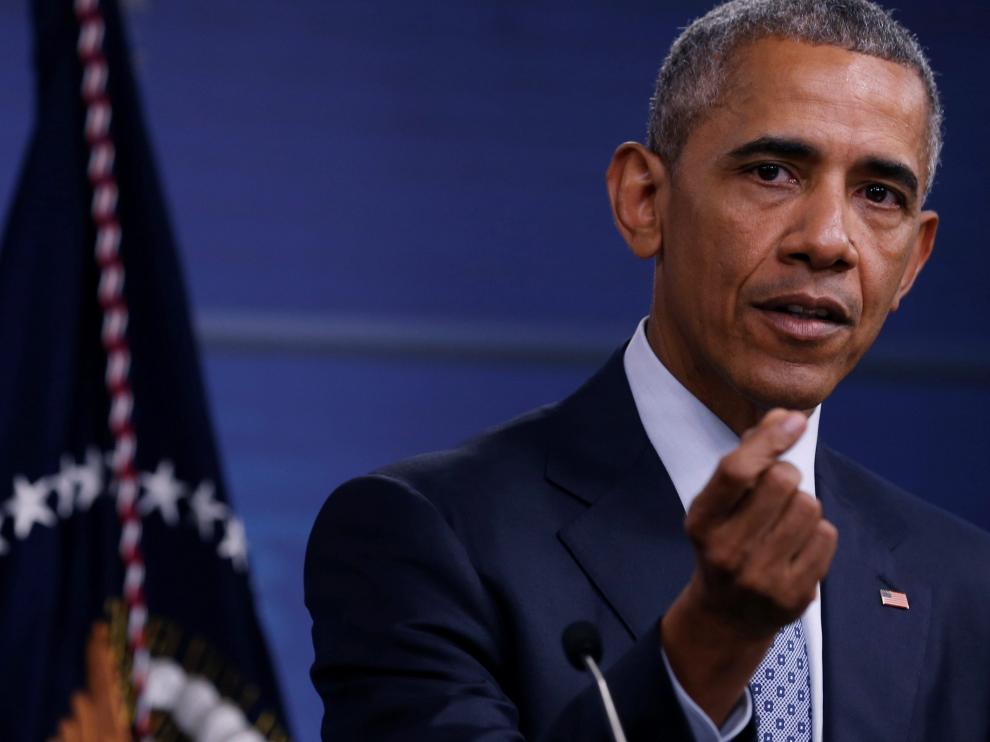 Obama durante una rueda de prensa en Virginia.