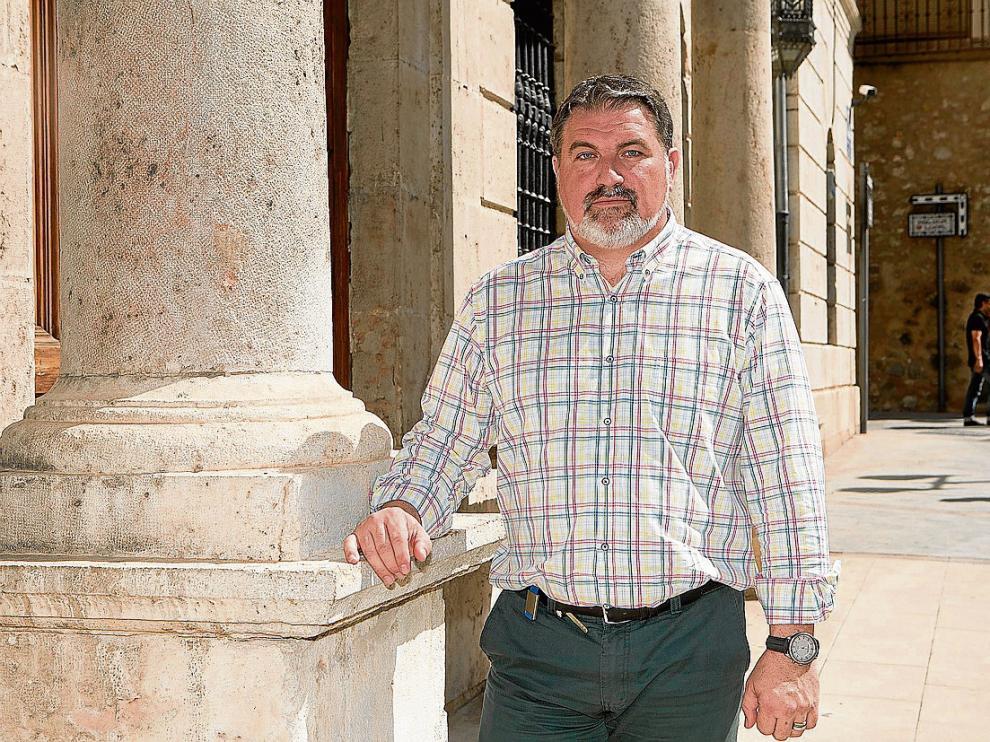 Juan Carlos Cruzado (PP), delegado de Urbanismo, a las puertas del Ayuntamiento.