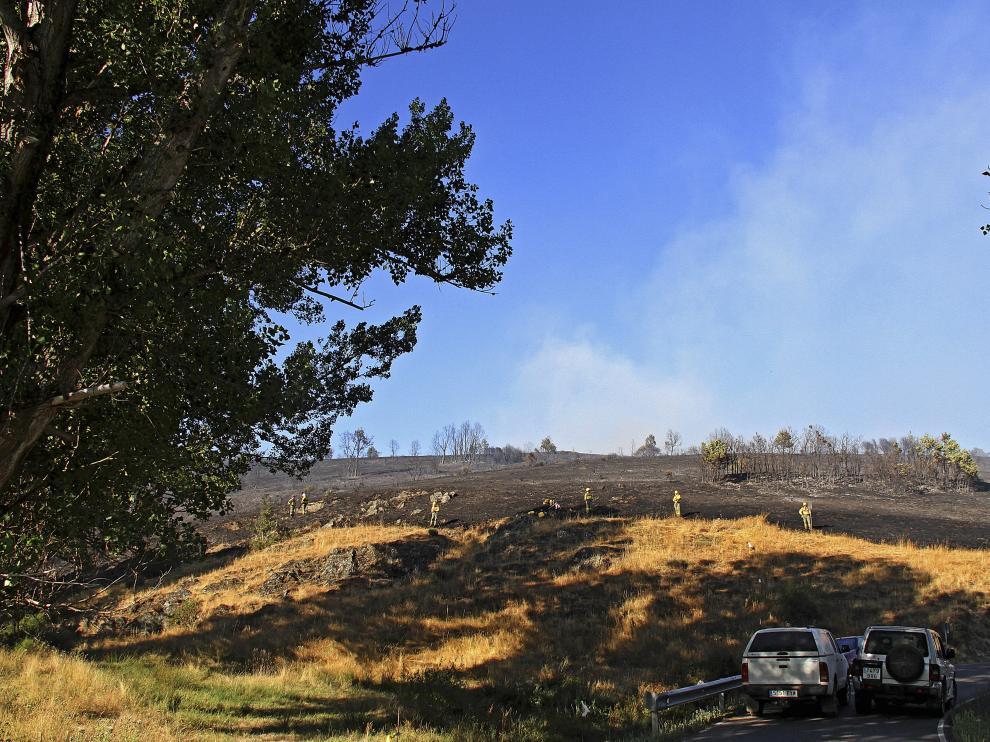 Foto archivo de las consecuencias de un incendio forestal en León