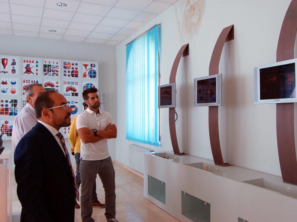 El presidente de la Diputación provincial deSoria, Luis Rey, en una visita reciente al Museo de la Cerámica de Quintana Redonda