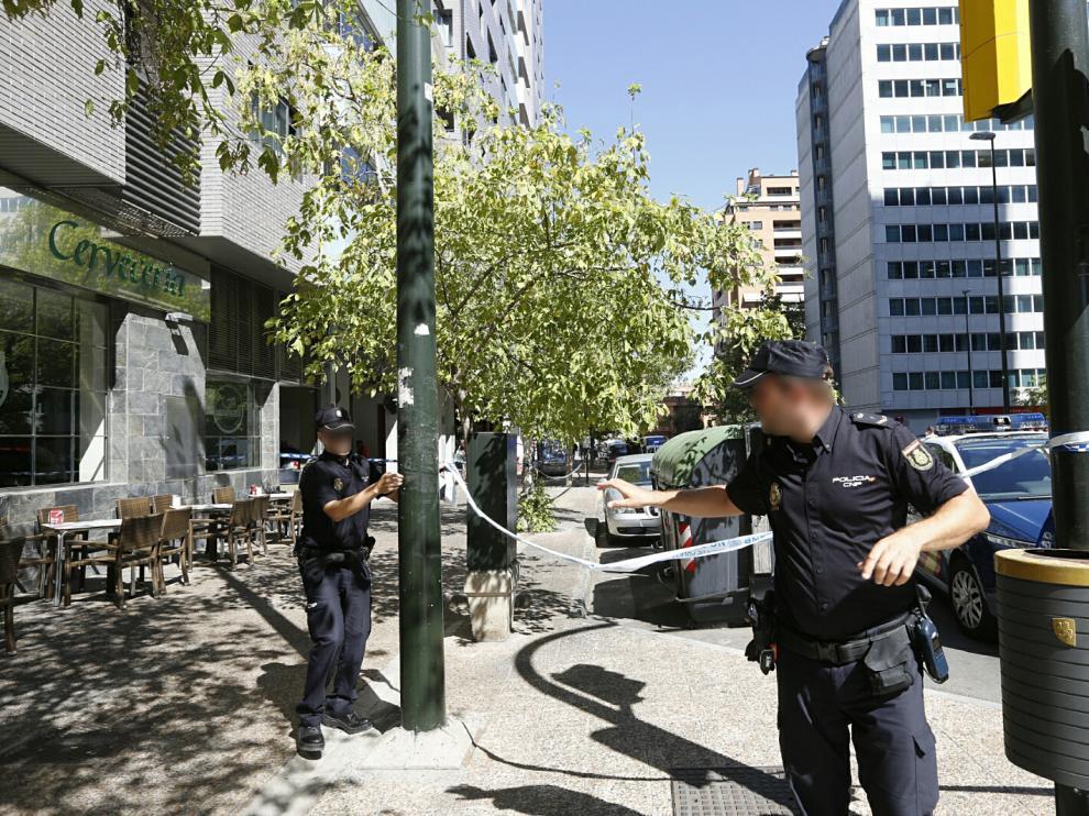 La Policía, en los alrededores de Aragonia, tras el tiroteo