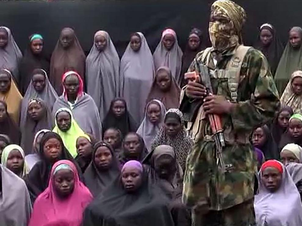 Un fotograma del vídeo difundido por Boko Haram