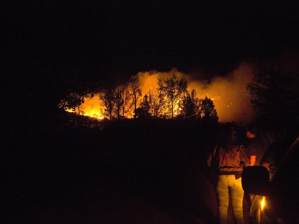 Incendio en Nuévalos, imagen de archivo.