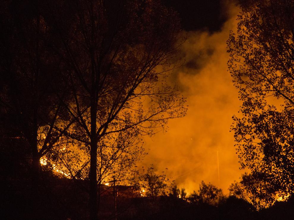 Incendio en Nuévalos