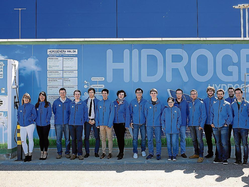 El equipo de la Fundación del Hidrógeno en Aragón, con sede en Walqa (Huesca).
