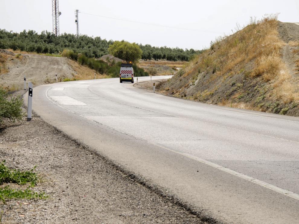 Lugar en el que tuvo lugar el accidente de Supersubmarina, en el término de Úbeda (Jaén).