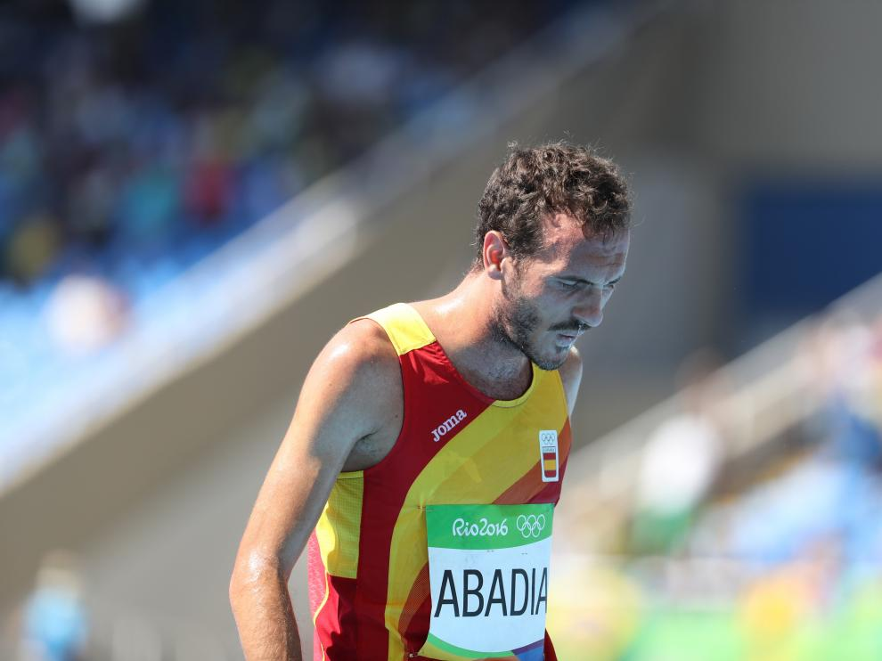 El atleta aragonésToni Abadía.