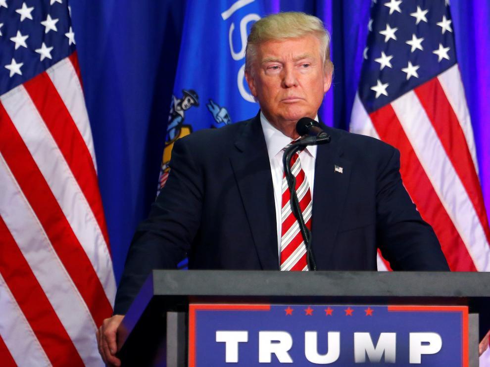 Donald Trump durante un acto en Wisconsin.