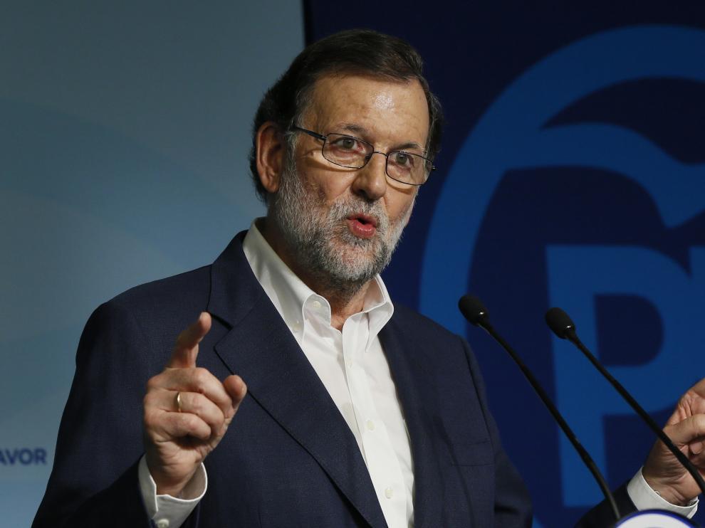Mariano Rajoy, este miércoles en Madrid.