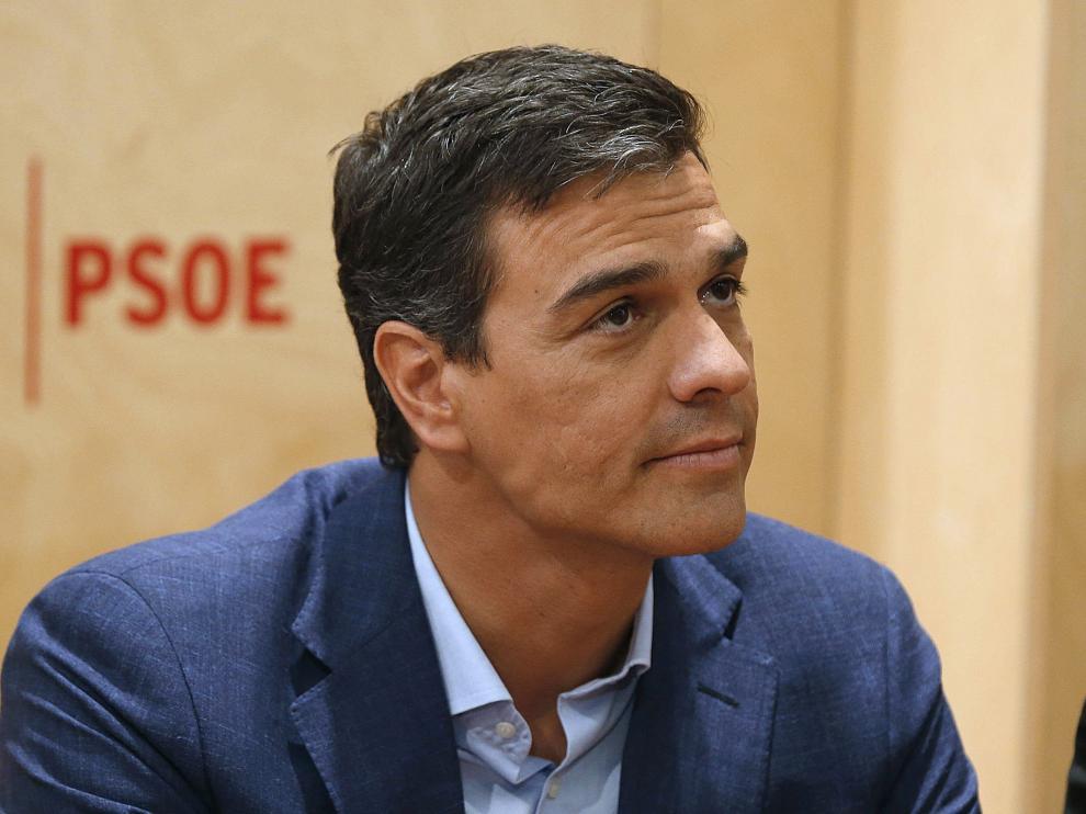 Sánchez, durante la reunión de la Ejecutiva del PSOE de este miércoles.