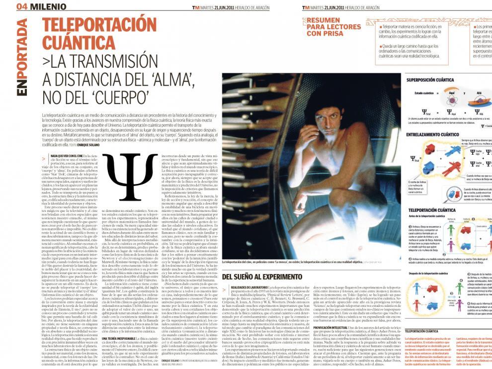Reportaje del suplemento Tercer Milenio publicado el 21 de junio de 2011.