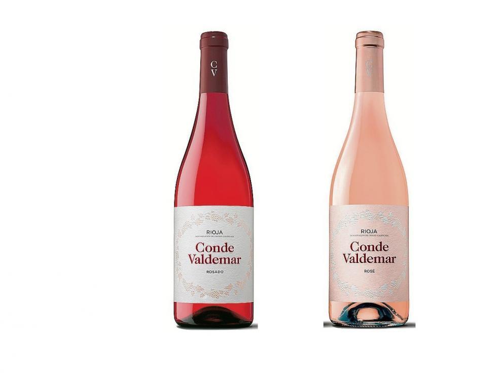 Los vinos rosado y rosé de Bodegas Valdemar.