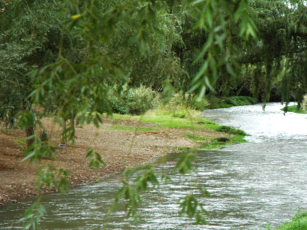 El río Jiloca, a su paso por Burbáguena, donde terminará la ruta.