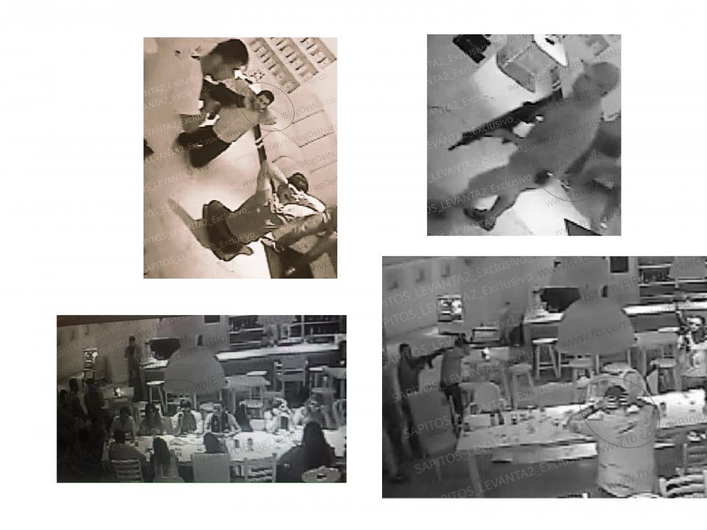 Fotografías filtradas del asalto.
