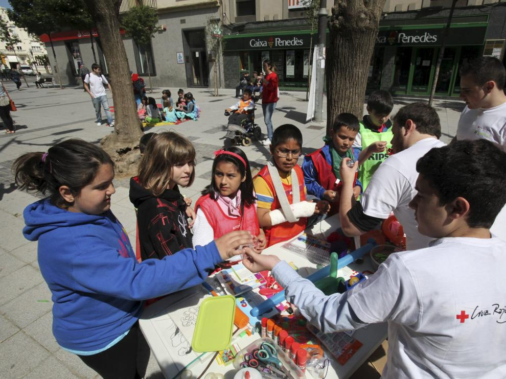 Foto archivo de otras actividades de la Cruz Roja Juventud en Huesca