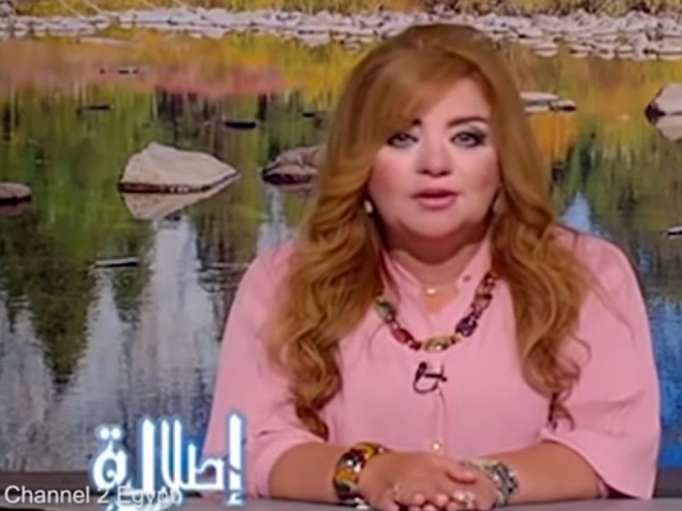 Una de las presentadoras suspendidas, Jadija Jatab, en la cadena pública