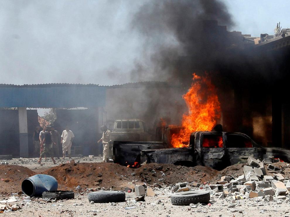 Ataque con coche bomba en la ciudad libia de Sirte.