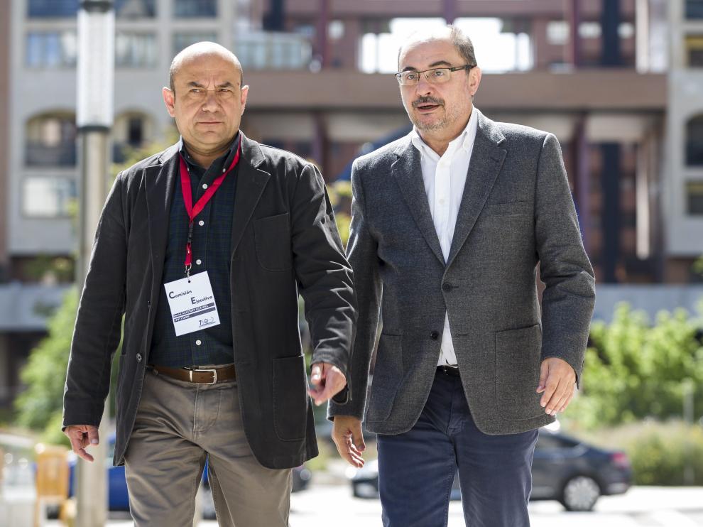 Daniel Alastuey y Javier Lambán.