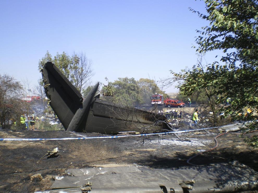 El vuelo JK5022 se estrelló en Madrid el 20 de agosto de 2008.