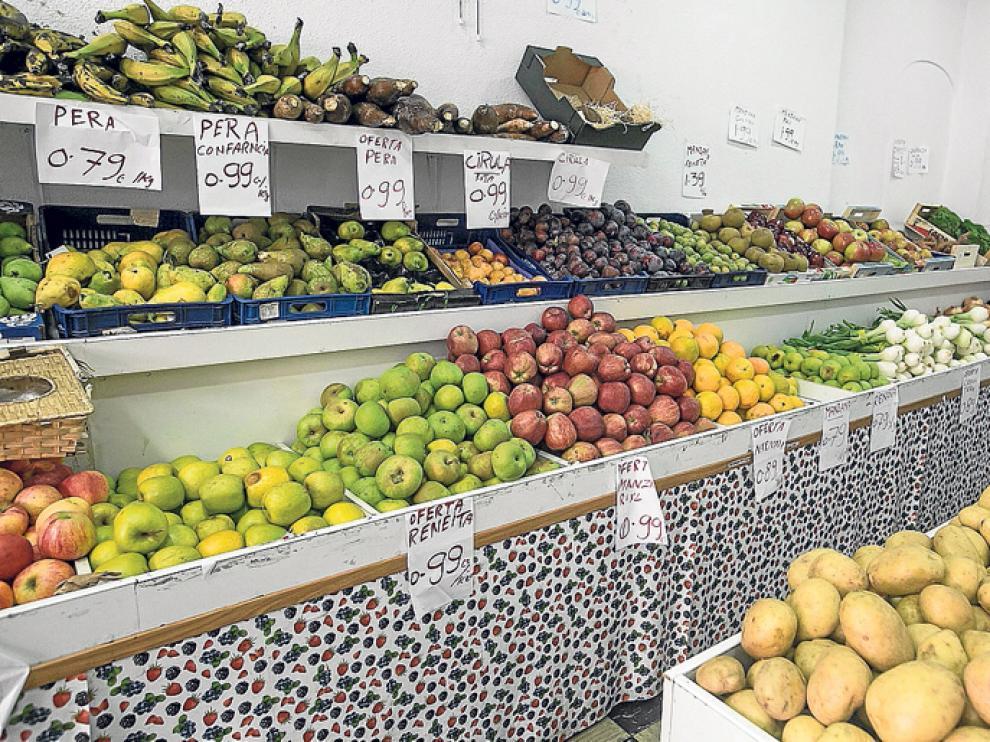 Tienda de alimentación de fruta y verdura.