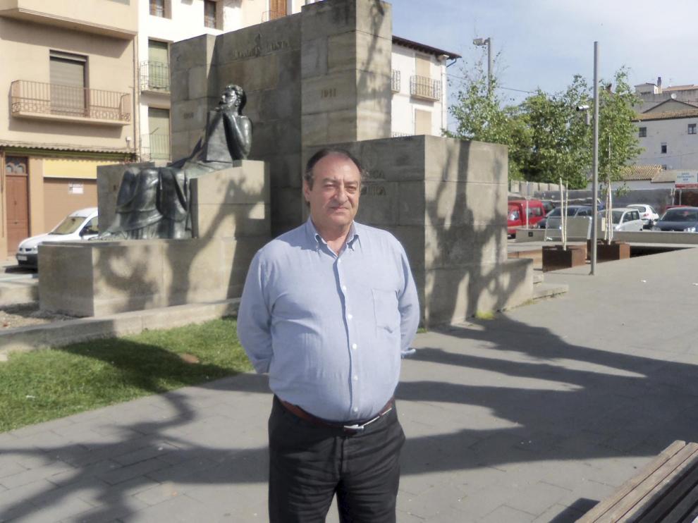José Alfonso Nasarre, en una foto reciente en Graus.