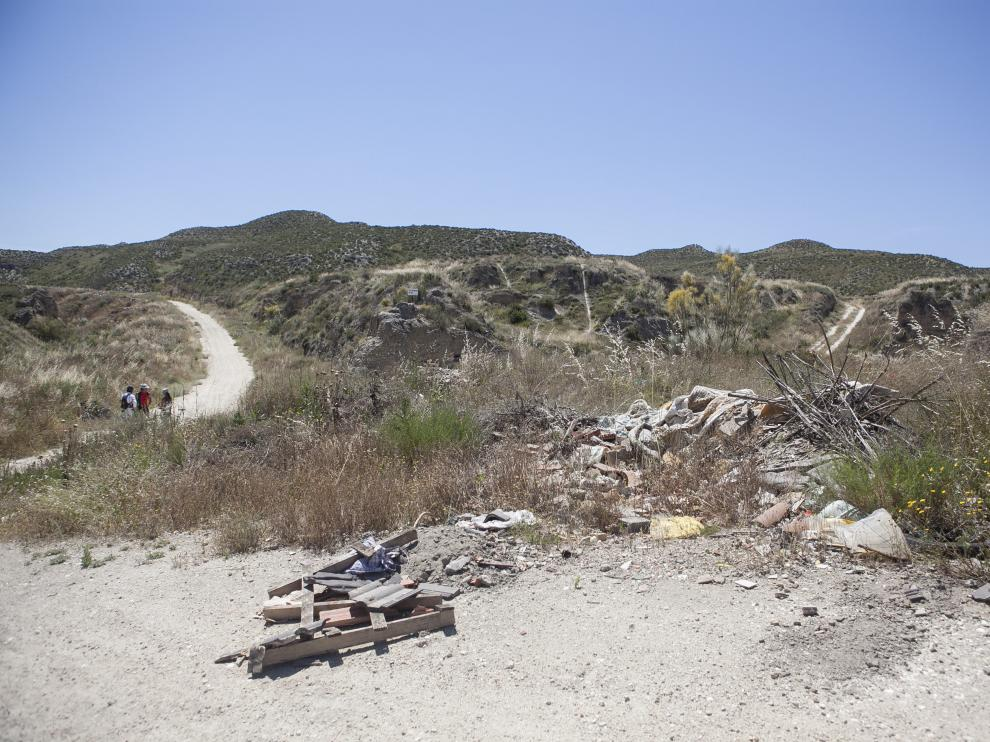 Imagen de archivo del barranco de Las Almunias, con vertidos ilegales.