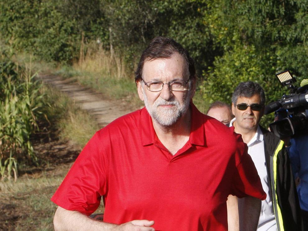 Mariano Rajoy, durante sus días de descanso
