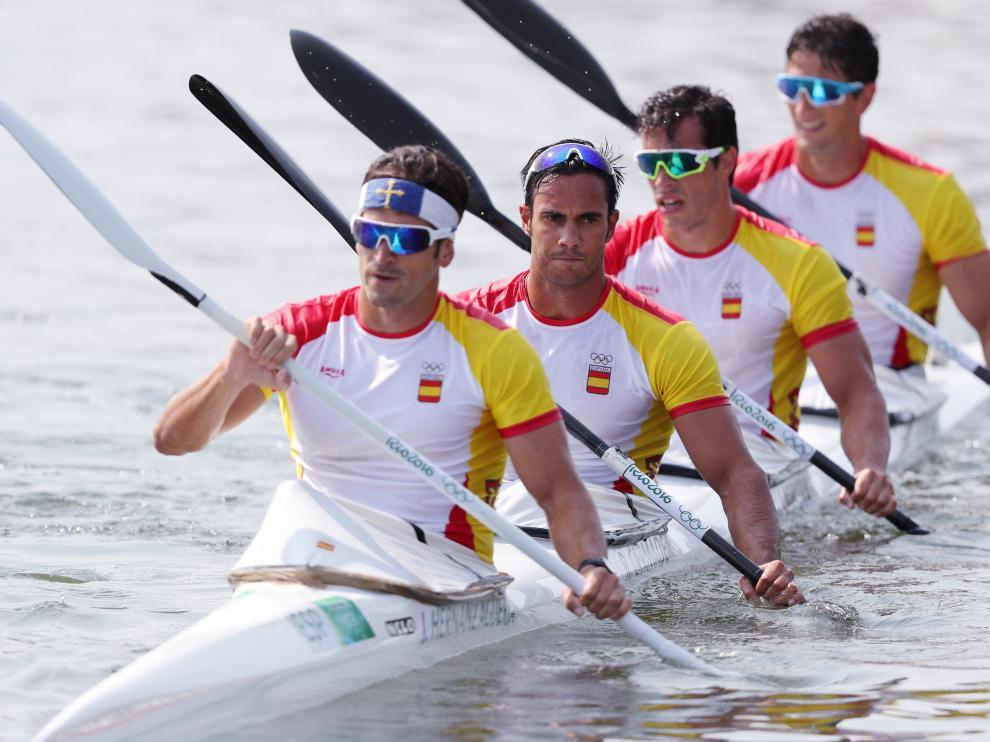 Javier Hernanz, Rodrigo Germade, Oscar Carrera e Íñigo Peña