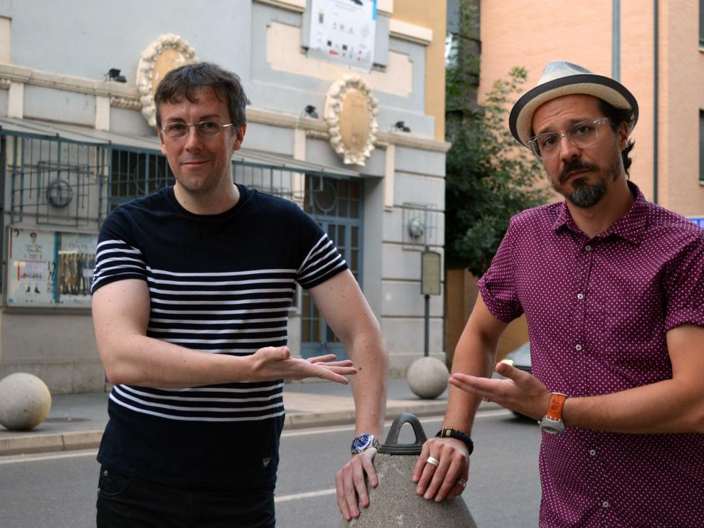 Miguel Ángel Lamata y Fele Martínez en Tarazona.