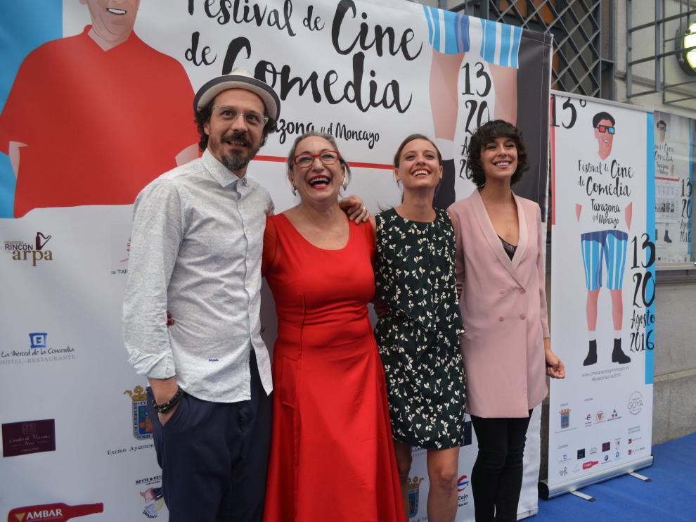 Fele Martínez, Luisa Gavasa, Michelle, Jenner y Belén Cuesta este sábado en Tarazona.