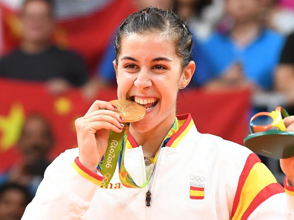 Carolina Marín, una de las españolas que ha logrado medalla de oro en Río 2016.