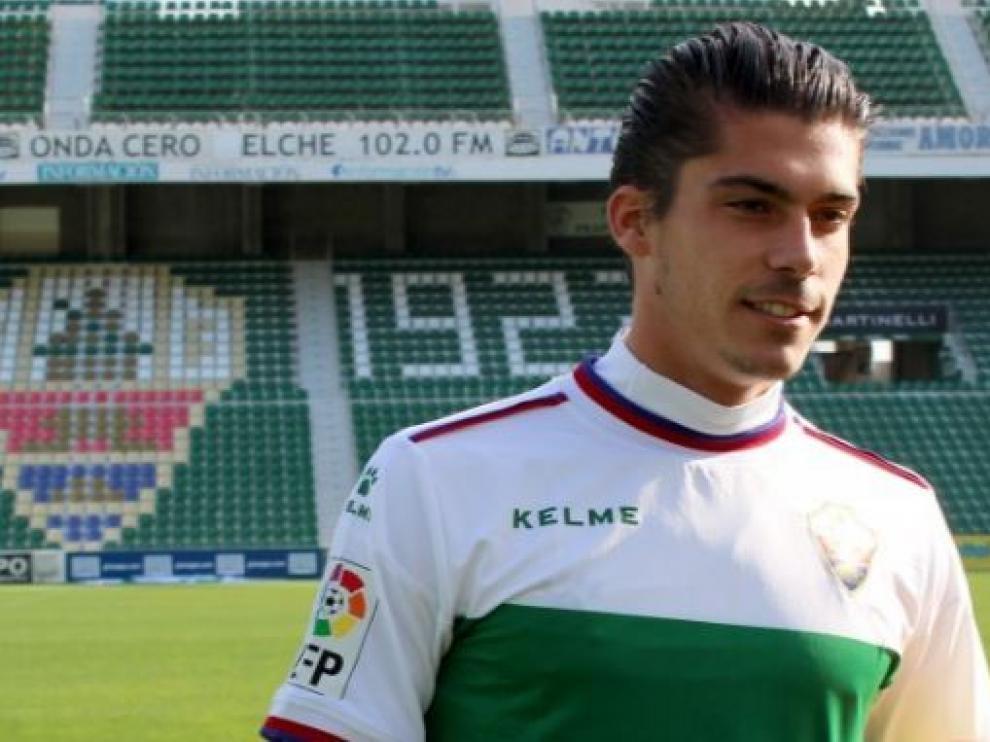Javier Noblejas, lateral izquierdo del Elche que va a abandonar el club ilicitano.