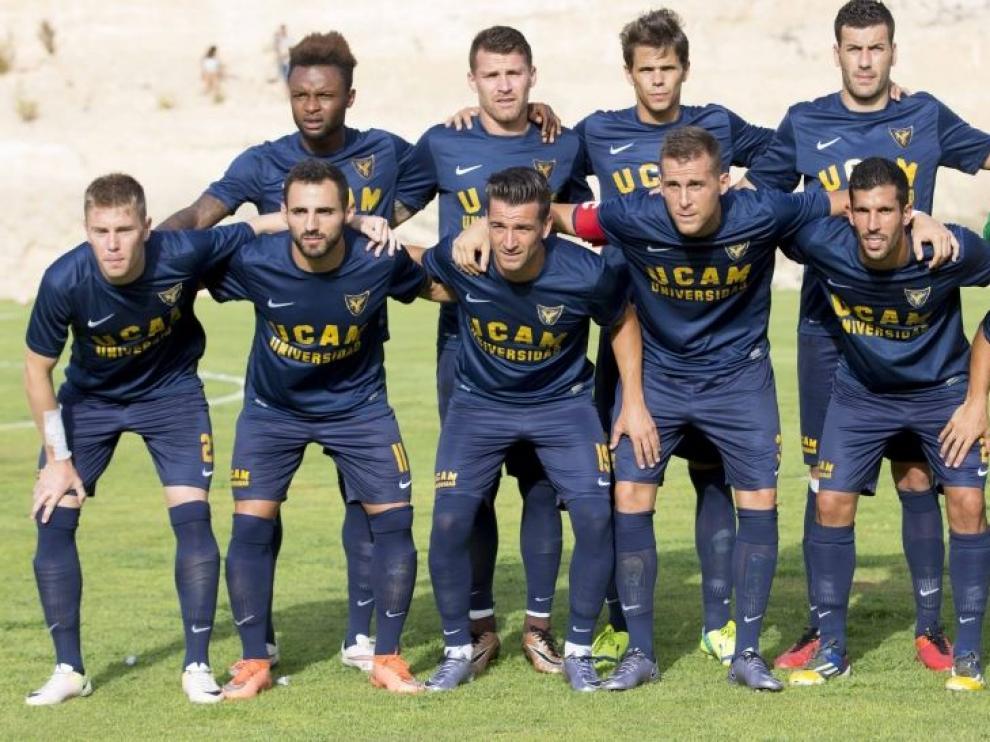 Una alineación reciente del UCAM Universidad Católica de Murcia, en el último partido de pretemporada jugado ante el Jumilla la semana pasada.