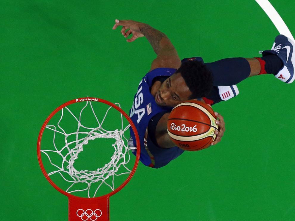 Demar Derozan durante la final olímpica jugada este domingo.