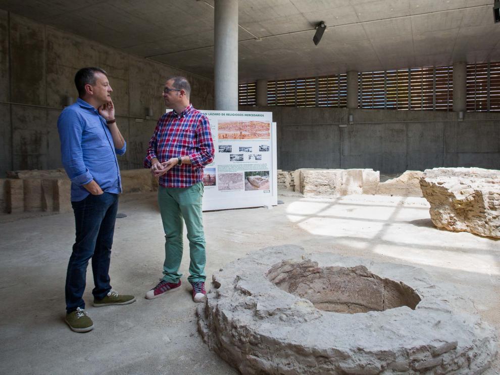 Foto archivo de Fernando Rivarés en el Centro de Interpretación de San Lázaro.
