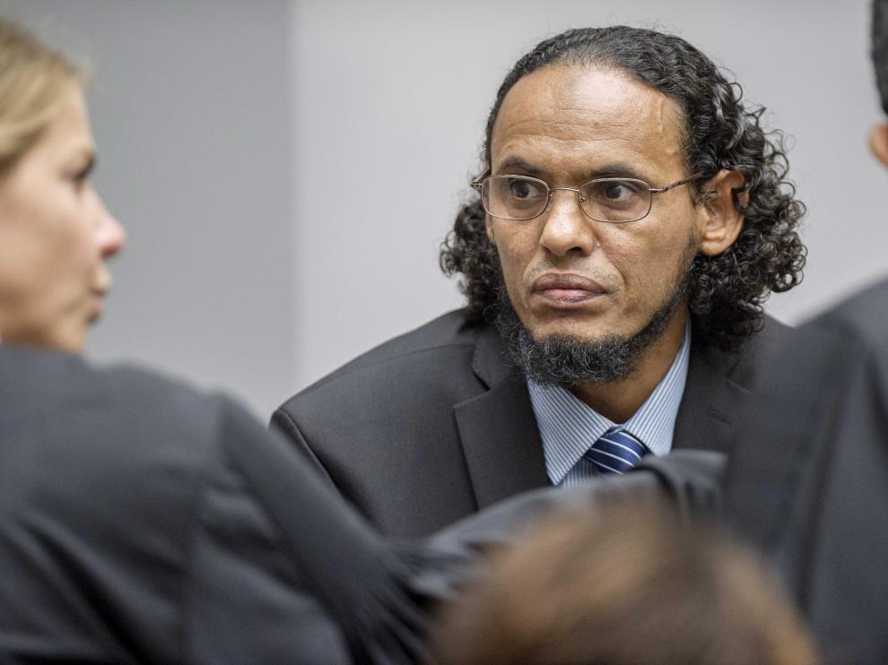 El acusado Achmad al Mahdi al Faqi durante el primer día de juicio
