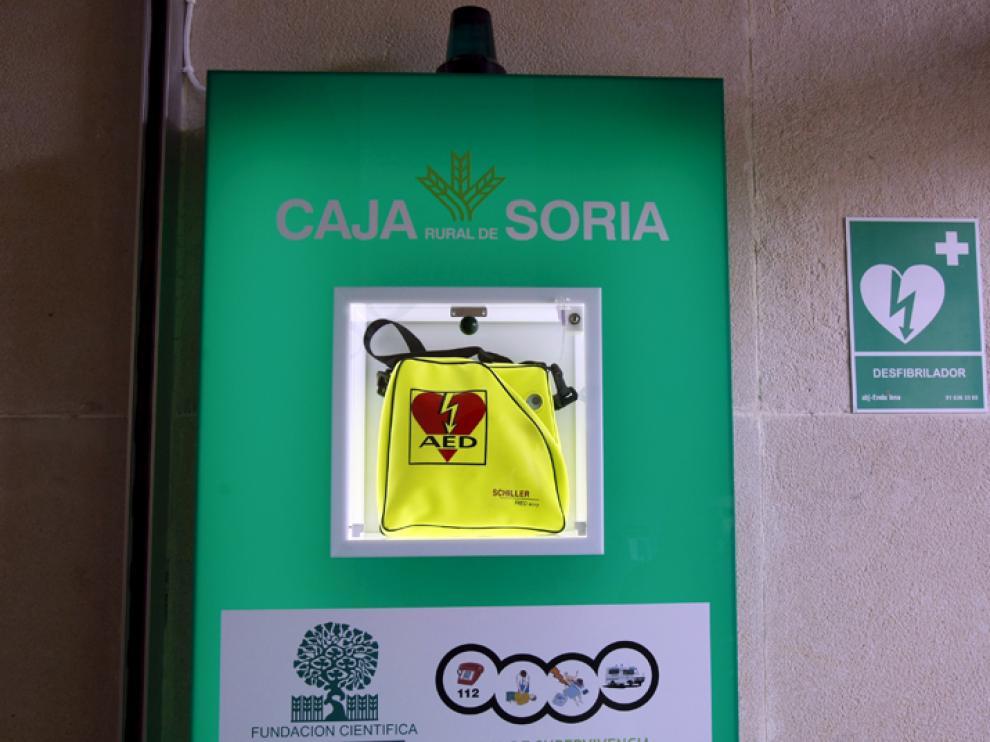 Uno de los desfibriladores instalados en Soria
