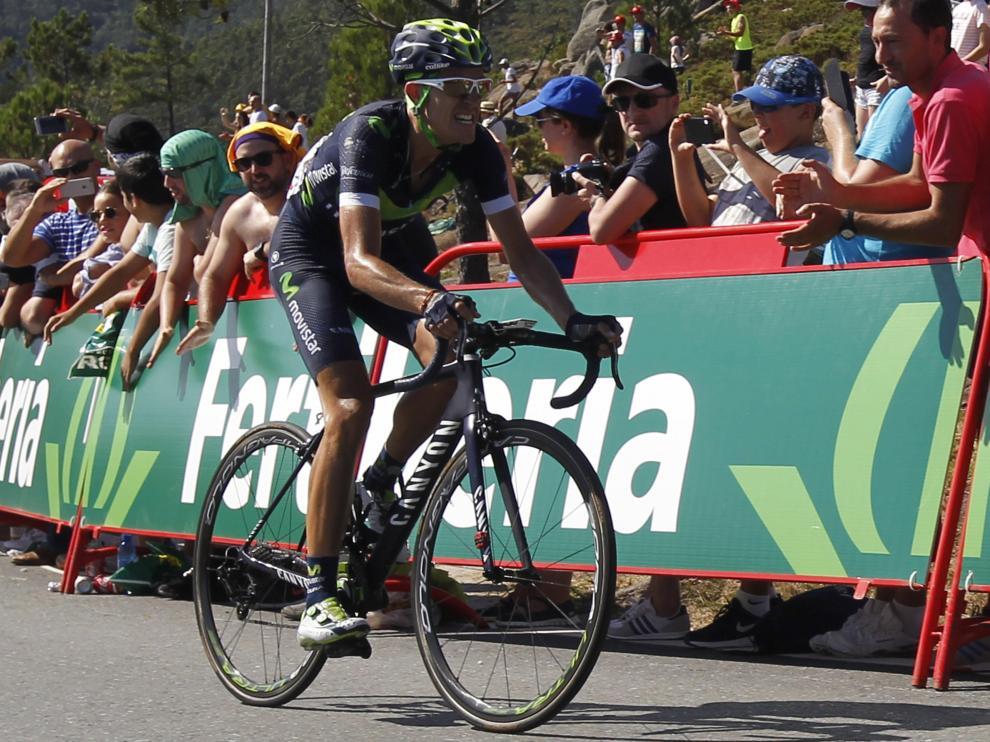 El ciclista murciano del equipo Movistar, Rubén Fernández, nuevo líder de la clasificación general.