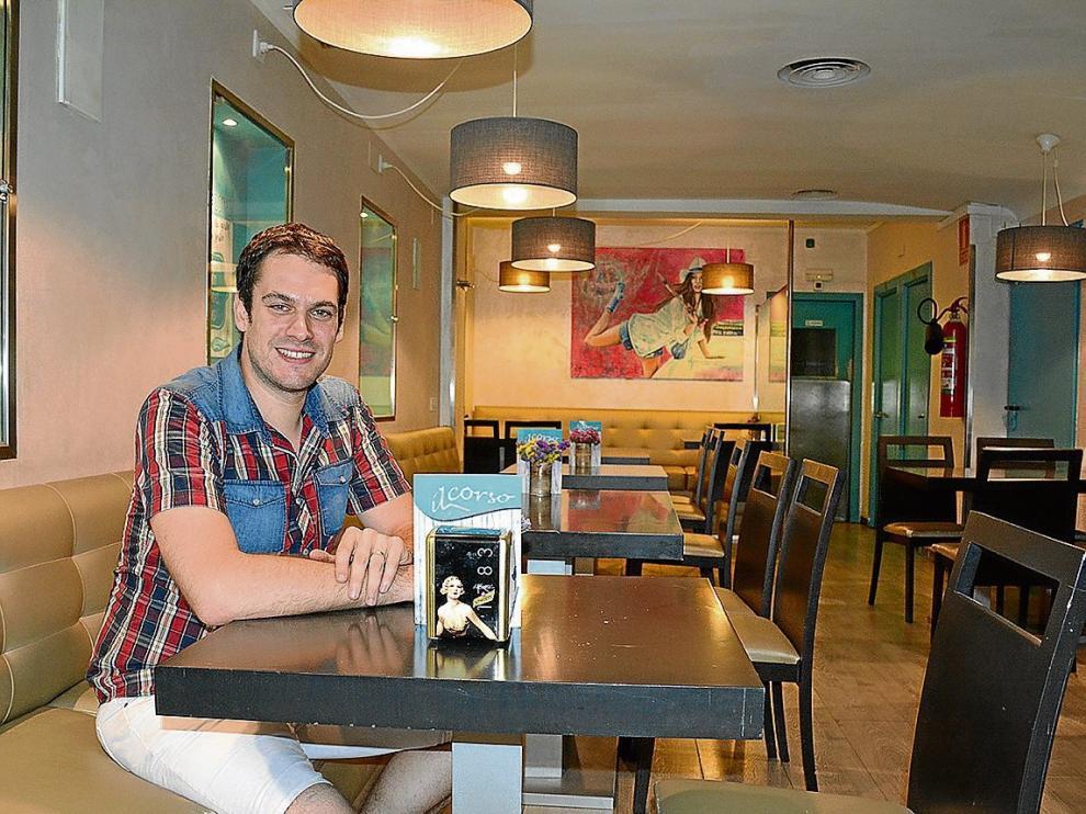 Daniel de Benito es el dueño del restaurante zaragozano Il Corso.
