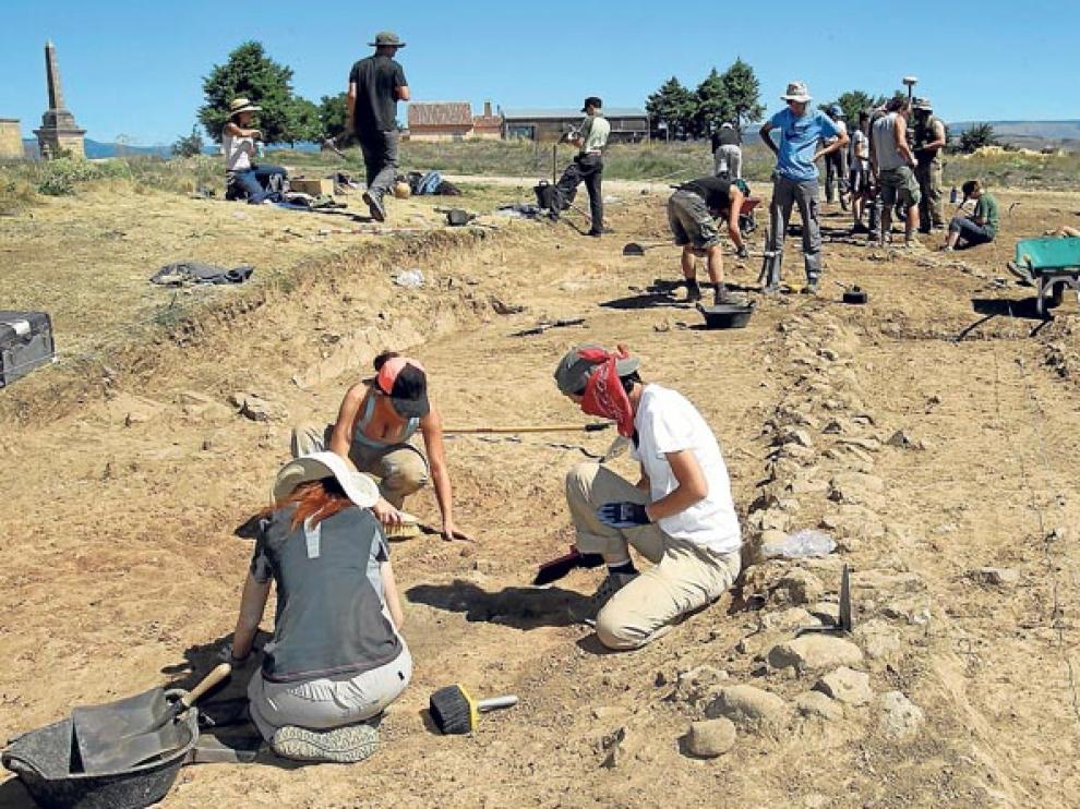 Jornada de trabajo en el yacimiento de Numancia.