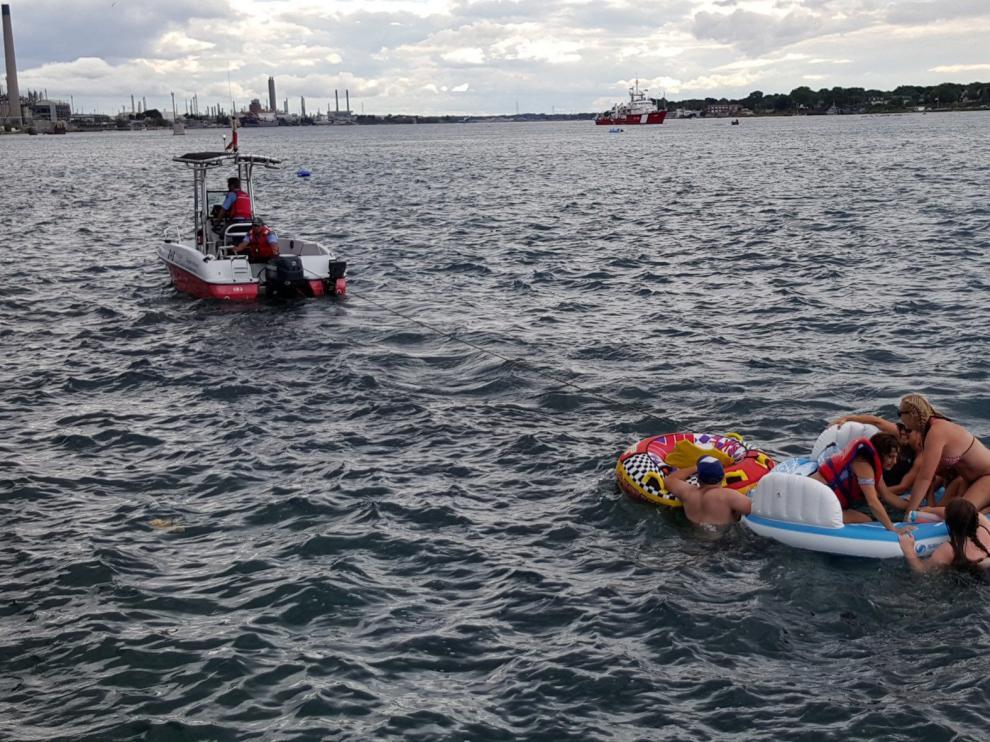 Eran bañistas que participaban en un festival anual que se celebra cada año en Port Huron