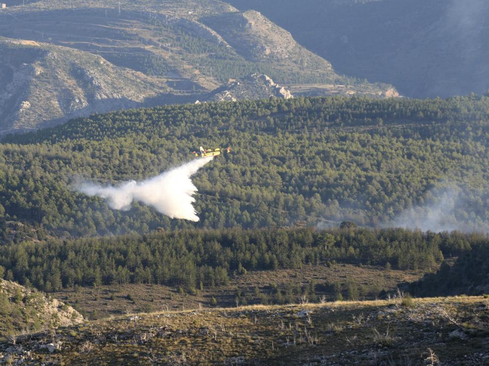 Incendio en Ejulve (Teruel)