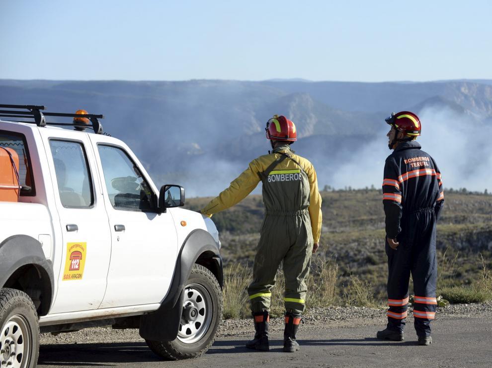 Incendio en Ejulve (Teruel).