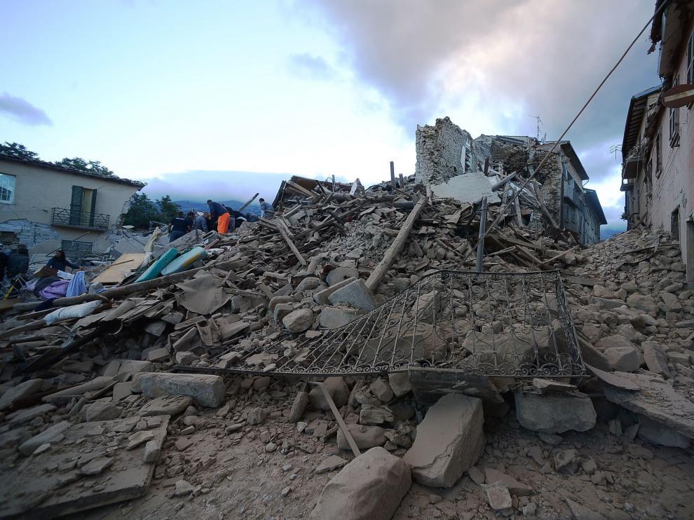 Terremoto en el centro de Italia.