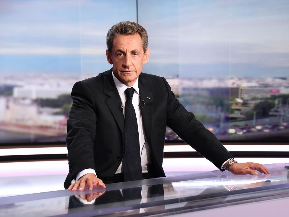 Nicolas Sarkozy, durante la entrevista en el telediario de la cadena de televisión francesa TF1.