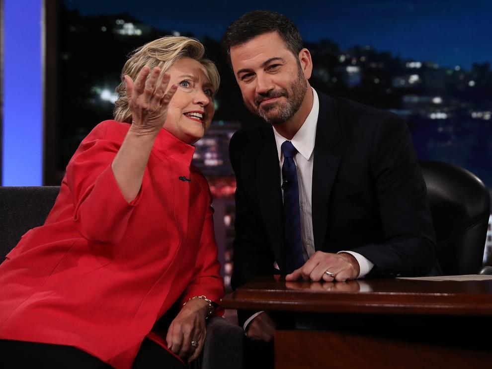 Clinton en el show de Jimmy Kimmel